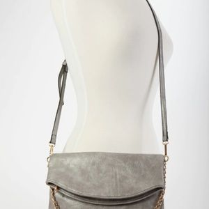 Monogrammable Flapover Crossbody with Chain